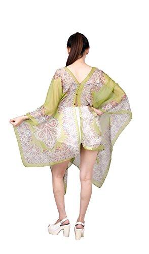 Lofbaz Damen Klassisch Beiläufig Poncho Design #1 Grün