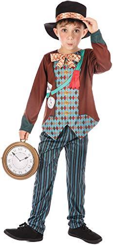 Alice Wunderland Kostüm Im Crazy - Fancy Me Jungen Mädchen Crazy Hatter Alice im Wunderland TV Film Weltbuch Tag Woche Schule Karneval Kostüm Outfit