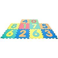 Mamatoy Mamababy Alfombra Puzzle 123, Números Desmontables, esteras de 32x32 cm, 10 Piezas MMA36000