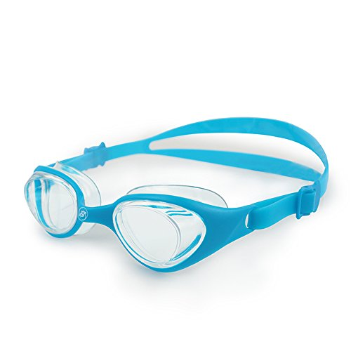 Barracuda Junior Swim Goggle FUTURE - One-piece Frame Soft Seals, Anti-fog UV Protection, No leaking Easy Adjustment Quick Fit Comfortable for Children Kids ages 6~12 (#73155) (Blue) -