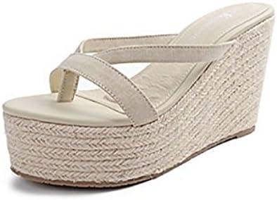 Zapatos de mujer sandalias Primavera y verano Tacón alto Fondo suave Fondo grueso Chanclas con solapa Zapatos...