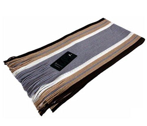 Demarkt Couvre-Écharpe d'Homme en Acrylique et Cachemire Taille: 180CM(L)*26CM(W) gris clair