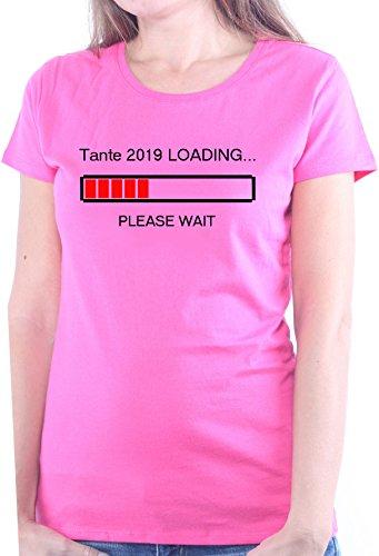 Mister Merchandise Ladies Damen Frauen T-Shirt Tante 2019 Loading Tee Mädchen bedruckt Pink