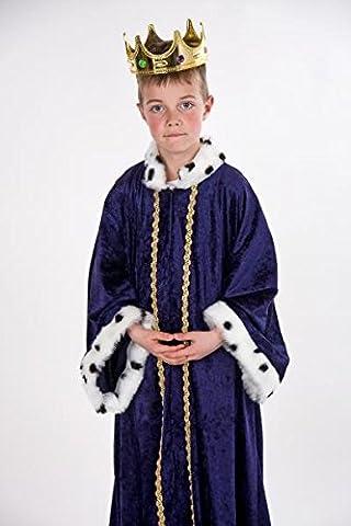 Sternsinger Kostüm Königs Mantel blau Größe 140/152 (Krippenspiel König Kostüm)