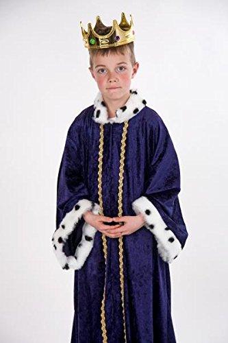 Heiligen Für Erwachsene Kostüme (Sternsinger Kostüm Königs Mantel blau Größe)