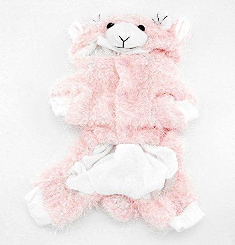 Imagen de smalllee _ lucky _ store pequeño perro de mascota gato ropa caliente forro polar de peluche halloween disfraz de cabra alternativa