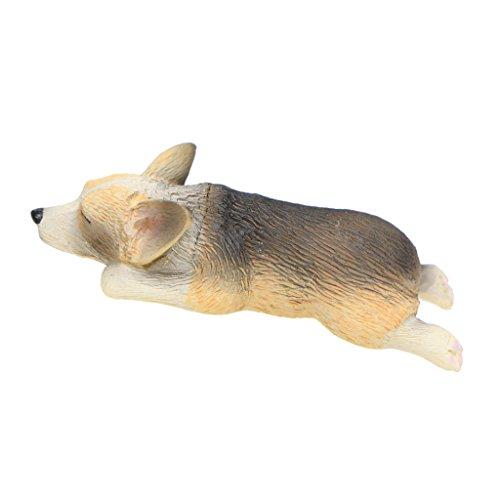 Homyl Miniatur Corgi Welpe Figur - # 9, 1,2x5,4cm