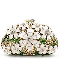 Las mujeres oficiales de Metal / Evento/fiesta / Bolsa de noche de bodas/Crystal bolsa de mano los diamantes gema de embrague Purse,beige