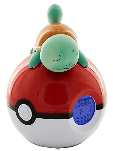 Teknofun 811369 Pokemon-Squirtle Digital Alarm Clock-Lamp & Radio Functions, Blue (Pokemon-stecker)