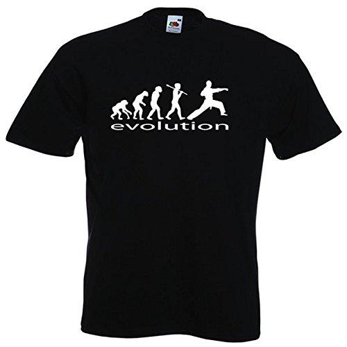 t shirt arts martiaux karat evolution de l 39 homme mmartial shop. Black Bedroom Furniture Sets. Home Design Ideas