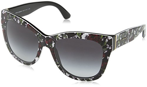 Dolce & gabbana occhiali da sole 4270 top print rose/black, 55