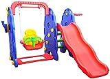 Homcom 54-0019 - Kinderrutsche Spielzeug Slide Gartenrutsche Elefantrutsche mit Schaukel