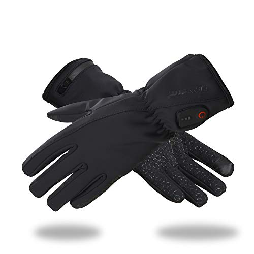 Dr.Warm Beheizbare Handschuhe Liner Wasserdicht Berührungssensitiver Bildschirm für Herren Damen,7.4V 2600MAH Wiederaufladbarem Akku Wärmende Handwärmer für Motorradfahren Skifahren (XL)