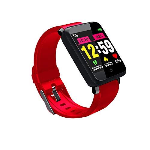 Oasics Smartwatch Männer und Damen iOS und Android Watch ,Display, NFC, Bluetooth, WLAN,Smart Watch Sport Fitness Aktivität Herzfrequenz Tracker Blutdruck Uhr IP67 (rot)