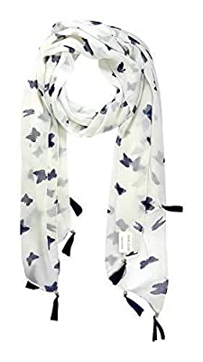 ICW Women's Cotton Scarf with Tassels (Multicolour, Small)