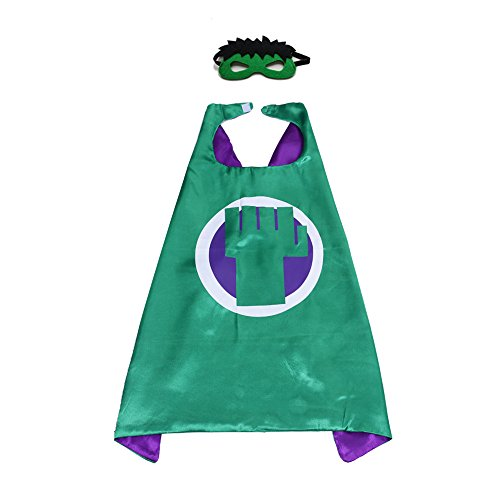 (Kinder Umhang mit Super Hero Hammer Robin Muster Set für Jungen & Mädchen UP PARTY KLEID Kostüme)