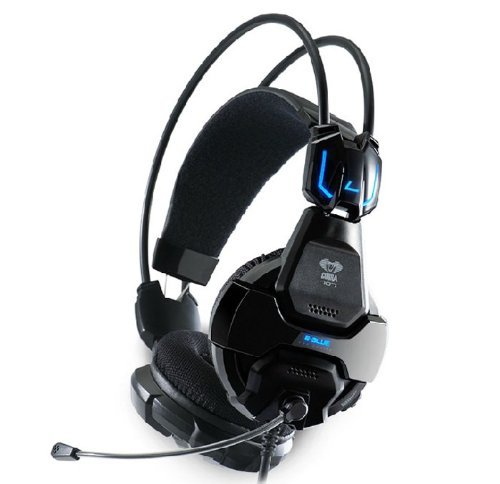amtonseeshop Schwarz E-3LUE Cobra HS707Blau Licht Gaming Headset & Mikrofon Gamer MSN Skype - Cobra Mikrofon