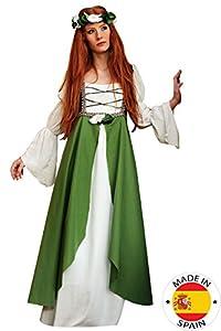 Limit Sport - Disfraz adulto Clarisa medieval, talla 38-40, color verde (MA580 TS)