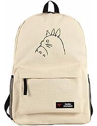new Escuela Mochila Cartoon Casual Cartera de libros Backpack Bosquejo Gato Totoro rare