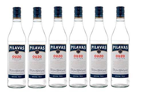 6x 0,7l Ouzo Pilavas Nektar 38% Vol.