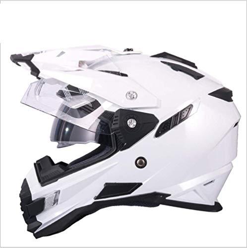 Casco Motocross Enduro Dual Sport Touring/Adventure Casco Moto Moto Integrato Modulare Flip Up Full Face Casco Moto DOT ECE Certificazione Double Mirror (M,L,XL,XXL)
