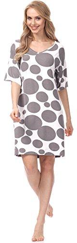 Merry Style Camicia da Notte per Donna MSFX302 Mokka