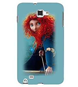Printvisa Witchish Girl Pick Back Case Cover for Samsung Galaxy Note 2::Samsung Galaxy Note 2 N7100