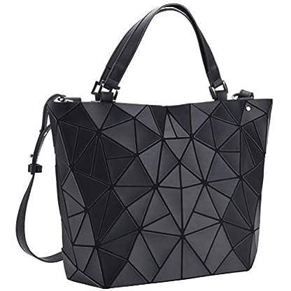 418XbPv02QL. SS416  - VBIGER Bolso Geométrico Bolso de Hombro Mujer Estilo Shopper Bolso de Mano Mujer Nergo (Negro)