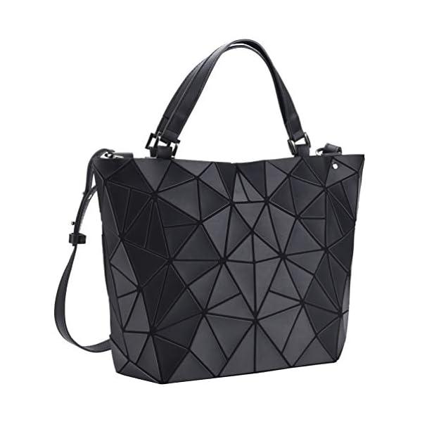 418XbPv02QL. SS600  - VBIGER Bolso Geométrico Mujer Bolso de Hombro Mujer Estilo Shopper Bolso de Mano Nergo (Negro)