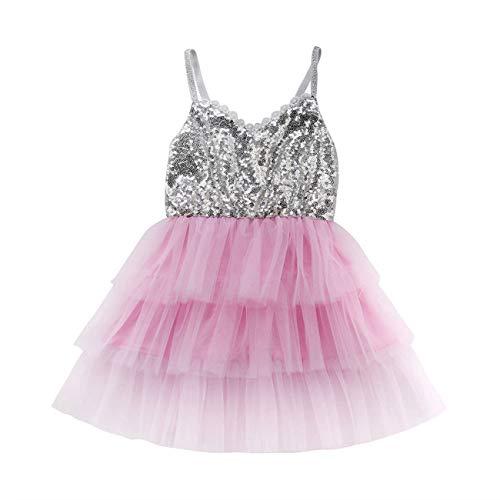 Fairy Baby Kleinkind Mädchen Pailletten Kleider Princess Dance Tutu 1-6 Jahre