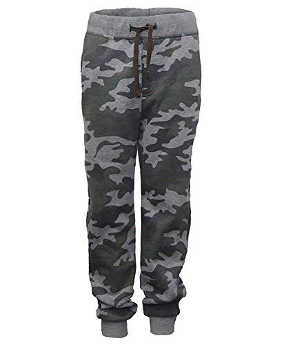 Lotmart Enfants Imprimé Camouflage Survêtement Fille Garçon Jogging Pantalon - Camouflage Kaki, 6-7 Ans