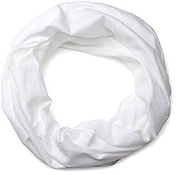 styleBREAKER Jersey Multifunktionstuch, Schlauchtuch, Stirnband, Haarband, Kopftuch, Loop Schlauchschal, Unisex 01012037, Farbe:Weiß