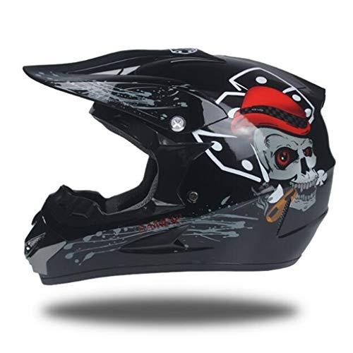 Helm männlich Motorradhelm Full Covered Sommerhelm Trend Racing Downhill Pedal Persönlichkeit Saison Helm (6 Arten) (Farbe : F, größe : S)