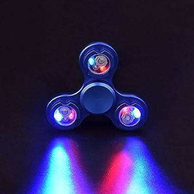 LEEHUR LED Tri Fidget Spinner Hand Finger Spinner mit Tai Ji Pattern Stress und Angst Relief Spielzeug