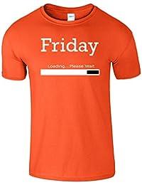 Friday Loading en cours week-end des hommes T-shirt Cadeau drôle d'anniversaire