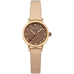 Johnny Loves Rosie Women's Quartz Watch with Beige Dial Analogue Display and Beige PU Strap JH018