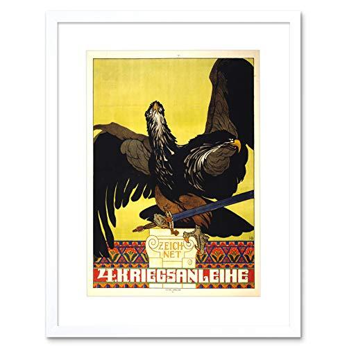 PROPAGANDA WAR WWI AUSTRIA HUNGARY LOAN BOND EAGLE FRAMED ART PRINT B12X5862 -