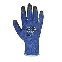 Portwest A140B8RM Thermal Grip Glove, Regular, Size: Medium, Blue/Black