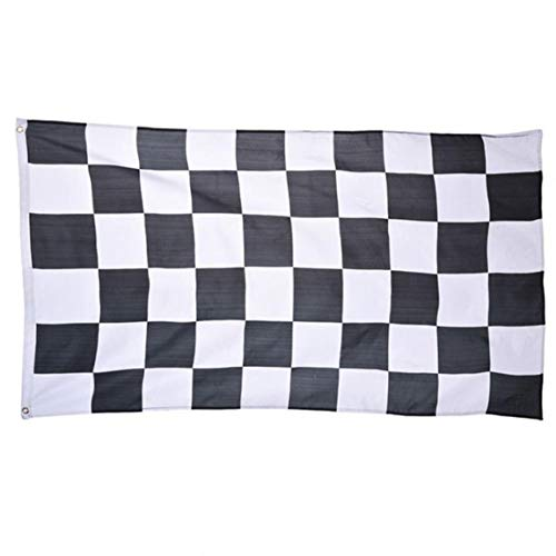 35.4x59 Zoll Große Checkered Flag Racing Polyester Gedruckt Schwarzweiss-Plaid-Flagge Mit Messingösen
