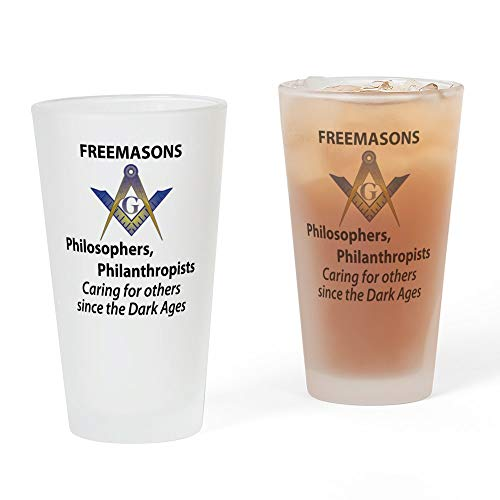 CafePress Mason Care Copy Pint-Glas, 473 ml Trinkglas frosted