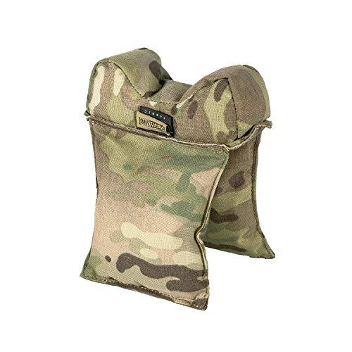 OneTigris Befüllte Schiessauflage Waffenauflage für Jagd Schiessstand (Camo)  MEHRWEG Verpackung