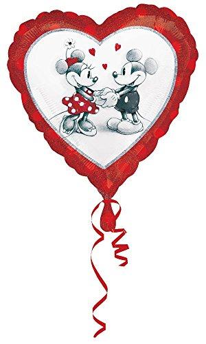 Disney Mickey Luftballons (Disney Mickey und Minnie Liebe holographischen Standard Folie Ballon,)