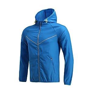 Moquite Sports Jacket Herren Damen Fitness Sweatshirts Laufjacke Windbreaker Voll Zip Langarm Funktionsshirt Lauf Jacken Hoodie Longsleeves Shirts