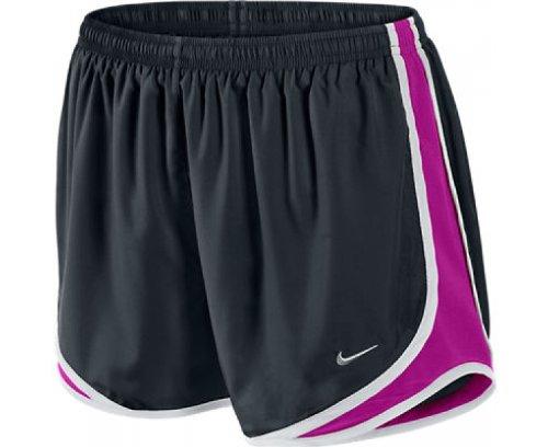 Nike Short New Tempo Track pour Femme Noir/violet/blanc/argent