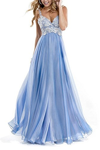 GEORGE BRIDE Marineblau Taille applique Chiffon Abendkleid Blau