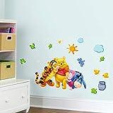 Xqi wangpu Winnie l'ourson Animaux Ours Tigre Amis Stickers Muraux pour Enfants Chambre Stickers Muraux Décoration de Bande Dessinée Nursery Room Decor 50X70cm