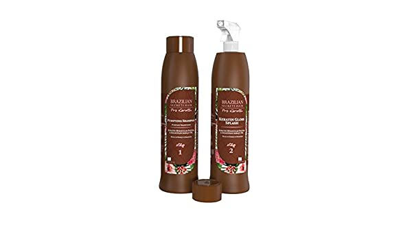 Kit stiratura bresilien - Brazilian segreti Hair - 2 x 500ml- alla  Cheratina liquido (Splash) per circa 10 applicazioni  Amazon.it  Bellezza 24ffe6701a24
