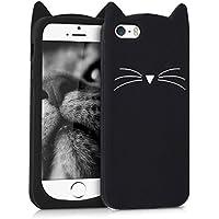 kwmobile FUNDA DE SILICONA Diseño gato para Apple iPhone SE/5/5S - Un diseño elegante y una protección óptima