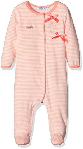 Dirkje Baby-Mädchen Unterwäsche-Set 31V-23066H, Orange-Orange (Neon Peach Stripe), 1 Monate (Herstellergröße: 56)