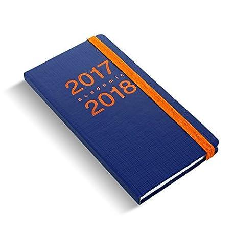 Letts Memo Slim Bleu marine/Orange 1semaine/2 Côtés académique Calendrier 2017/18 Année académique planner 18-030744